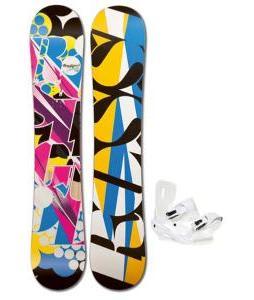 Rossignol Justice Amptek Snowboard with Sapient Zeta Bindings