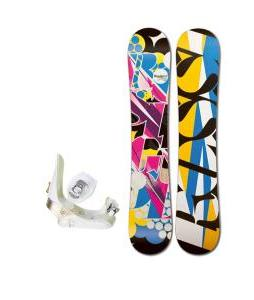 Rossignol Justice Amptek Snowboard with Morrow Lotus Bindings