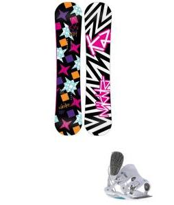 K2 Vavavoom Rocker Snowboard with Flow Flite 2W Bindings