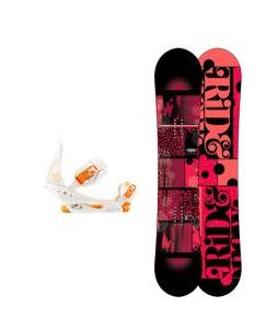 Ride Compact Snowboard with Burton Stiletto Bindings