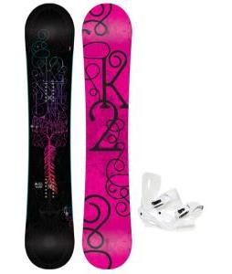 K2 Bright Lite Snowboard with Sapient Zeta Bindings