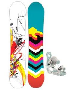 DC Ply Snowboard with Ride LXH Bindings