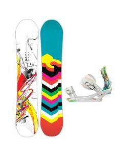 DC Ply Snowboard with Rossignol Tesla Bindings