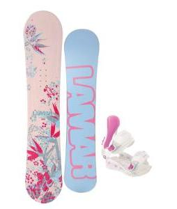 Lamar Merlot Snowboard with Avalanche Serenity Bindings