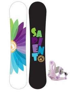 Sapient Color Wheel Snowboard with Morrow Slider Bindings