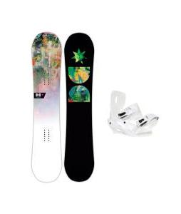 DC Biddy Snowboard with Sapient Zeta Bindings