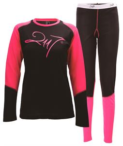 2117 Of Sweden Hede Baselayer Set Black/Cerise