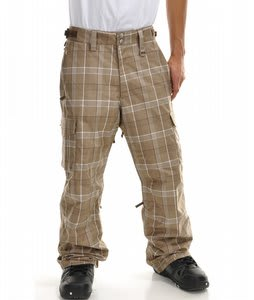 Planet Earth Division Plaid Snowboard Pants Walnut