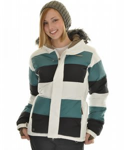 Planet Earth Puffy Kitty Snowboard Jacket White