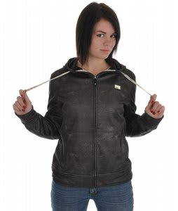 Rome Accolade Bonded Fleece Jacket Black Heavy Print