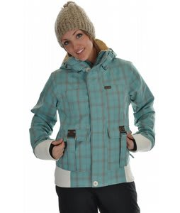 Rome Astor Snowboard Jacket Mint Plaid