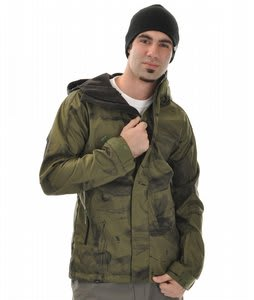 Rome Taipan Snowboard Softshell Jacket Drab Dirt Print
