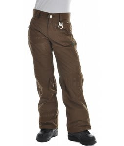 Rome Suffragette Snowboard Pants Brown Undermine Print
