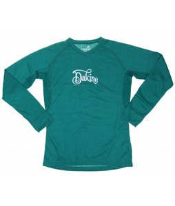 Dakine Midweight Vented Upland V-Neck First Layer Top Jade