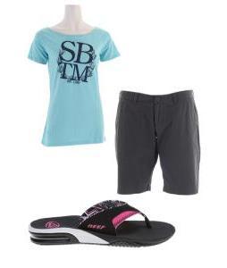 Blue beach outfit