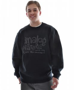 Analog Ill Nature Crew Sweatshirt True Black
