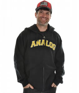 Analog Career Ender Full Zip Hoodie True Black 