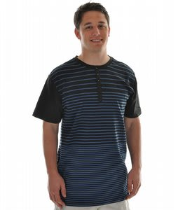 Analog Amplify S/S Henley T-Shirt Atlantic Navy