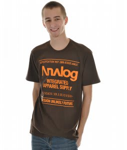 Analog Utility Fitted S/S T-Shirt Dark Brown