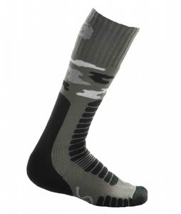 Euro Board Camo Socks Brown