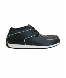 Gravis Fulton Shoes Black Leather White Trim