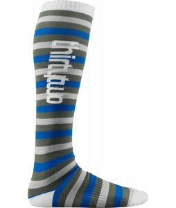 32 - Thirty Two Bars And Stripes Snowboard Socks Grey/White