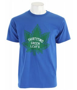 32 - Thirty Two Green Leafs T-Shirt Royal