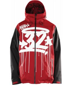 32 - Thirty Two Shiloh 2 Snowboard Jacket Dkg Red