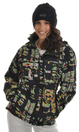 Burton Ak Summit 2L Snowboard Jacket Night Bright Print