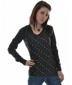 Burton Midweight V-Neck Thermal Black Polka Squares