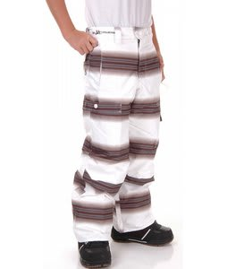 Burton Twc Cosmic Delight Snow Pants Bright White Faded Stripe