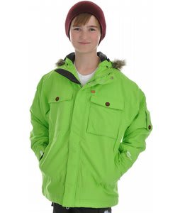 Foursquare Fredi Snowboard Jacket Green Light