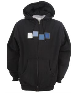 Foursquare Filled Zipped Icon Hoodie Blue Nights