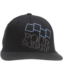 Foursquare Icon & Wordmark Hat Black