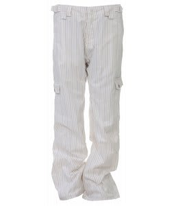 Foursquare Korina Snowboard Pants White Pinstripe