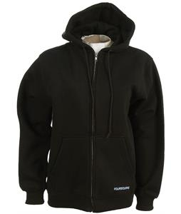 Foursquare Nature Full Zip Hoodie Black
