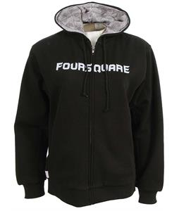 Foursquare Paisley Lined Full Zip Hoodie Black