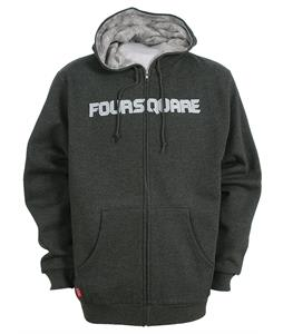 Foursquare Paisley Lined Zipped Hoodie Charcoal