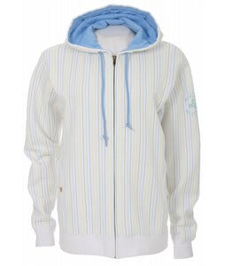Foursquare Multicolor Pinstripe Zip Hoodie White Multicolor Pin
