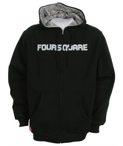 Foursquare Paisley Lined Zipped Hoodie Black