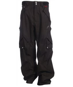 Foursquare Q Snowboard Pants Black Hatch