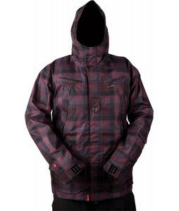Foursquare Arroyo Snowboard Jacket Black Rip Plaid