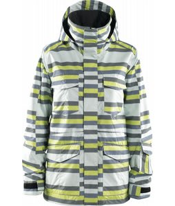 Foursquare Artisan Snowboard Jacket Ice Digitalized Stripe