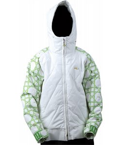 Foursquare Candy Snowboard Jacket White