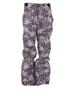 Foursquare Trappe Snowboard Pants Black Leaves