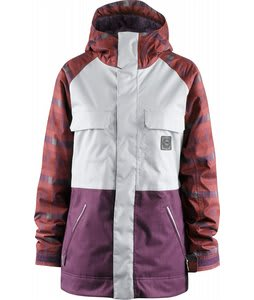 Foursquare Crush Snowboard Jacket Scrubs/Crossfade/Plaid Plum