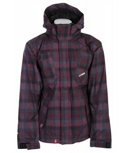Foursquare Doug Snowboard Jacket Black Rip Plaid