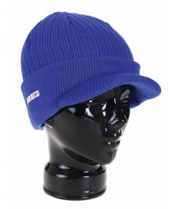 Foursquare Filled Icon Visor Beanie Reflux Blue