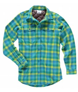 Foursquare Flannel Insulator Flannel Pixel Plaid Helsinki Blue