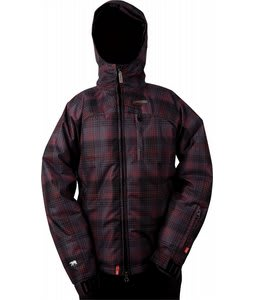 Foursquare Fredi Snowboard Jacket Black Rip Plaid